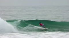 Italo Ferreira (BRA) surfing during the during the Moche Rip Curl Pro Portugal Stock Footage