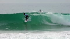 Aritz Aranburu (ESP) surfing during the during the Moche Rip Curl Pro Portugal Stock Footage