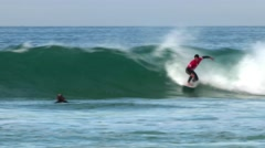Gabriel Medina (BRA) surfing during the during the Moche Rip Curl Pro Portugal Stock Footage