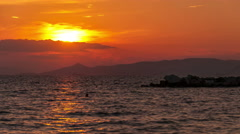 Stock Video Footage of Dramatic sunset on the sea