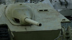 View of an old tank at Polish Army Museum, Warsaw Stock Footage