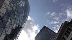 The Gherkin Building - London - Timelapse Stock Footage