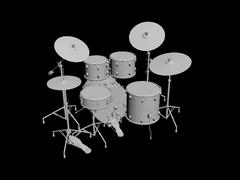 3d model of Drums