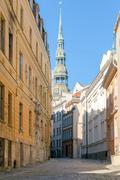 Riga. Old street. - stock photo