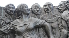 Magic New Orleans: Congo Square Statue Stock Footage