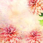 Watercolor illustration of floral theme - stock illustration