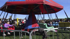 Stock Video Footage of Kids Carnival Rides at Pumpkinfest, North York, Toronto