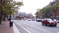 Traffic around Harvard university campus Stock Footage
