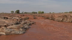 Tsavo East NP river 3 Stock Footage