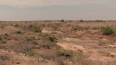 Tsavo East NP river 6 Stock Footage