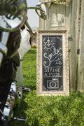 DIY wedding hand written sign - stock photo