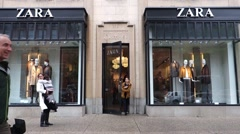 Zara retail store Stock Footage