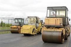 road construction equipment - stock photo