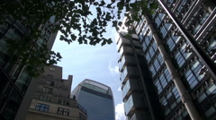 Bishopsgate and St Helen's Place - London - Timelapse Stock Footage