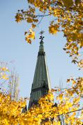 Church Steeple in Umeå, Sweden - stock photo