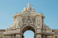 Rua Augusta Arch, Lisbon, Portugal - stock photo