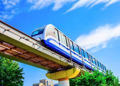 Electric monorail train modern public transport Kuvituskuvat