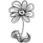 Eyeball Flower Stock Illustration