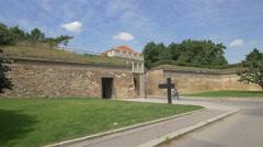 Entry gate to Vyšehrad, Prague Stock Footage