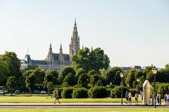 The Rathaus Town Hall In Vienna - stock photo