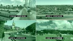 CCTV African City Johannesburg Surveillance Cameras Stock Footage
