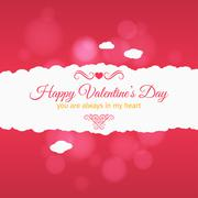 valentines day card vector background - stock illustration