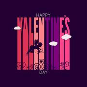 Valentines day design vector background Stock Illustration