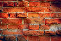 old red brickwork - stock photo