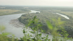 River disappearing into the distance Stock Footage