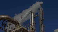 Nitrogen fertilizer plant, ammonia plant Stock Footage