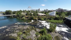 Spokane City Aerial Stock Footage