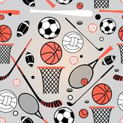 pattern of sporting goods - stock illustration
