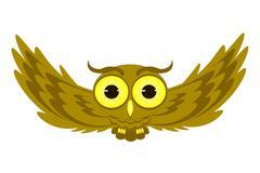 Flying owl illustration Stock Illustration