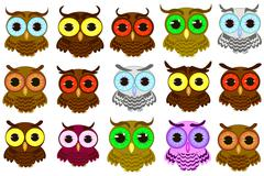Stock Illustration of isolated owl vector illustration