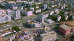 Beautiful aerial view of Berlin, Germany. Hectic life of European megalopolis Stock Footage