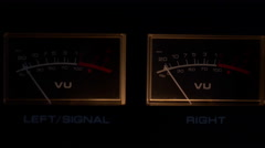 Sound vu meters overloading then turned off Stock Footage