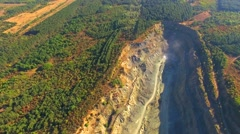 AERIAL VIEW. Simferopol Crushed Stone Pit Stock Footage