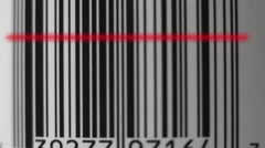Laser Barcode Scan Stock Footage