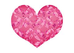 Pink Heart isolated on white background Stock Illustration