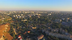 AERIAL VIEW. Buildings In Greenery Of City Of Simferopol, Crimea - stock footage