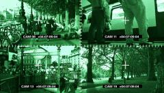 CCTV London Surveillance Cameras Stock Footage