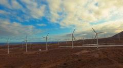 Wind Turbine as a source of alternative energy - stock footage