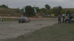 Dnepropetrovsk 13 September. autocross Stock Footage