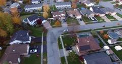Aerial Car Neighbourhood Stock Footage