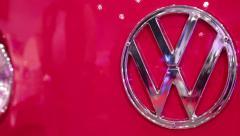 Volkswagen emblem - stock footage
