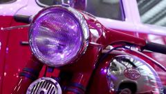 Jawa motorcycle at automotive-show Stock Footage