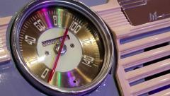 Retro car speedometer Stock Footage