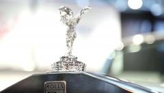 Stock Video Footage of Rolls Royce emblem
