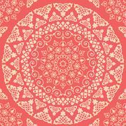 Seamless pattern. Vintage decorative elements - stock illustration