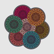 Stock Illustration of Mandala. Vintage decorative elements background